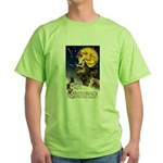 Witches Riding By Green T-Shirt