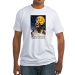Witches Riding By Fitted T-Shirt