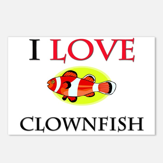 I Love Clownfish Postcards (Package of 8)