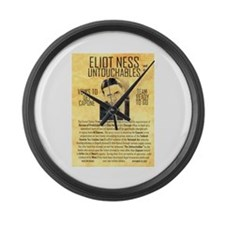 Eliot Ness Large Wall Clock