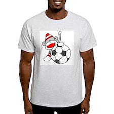 Sock Monkey with Soccer Ball T-Shirt