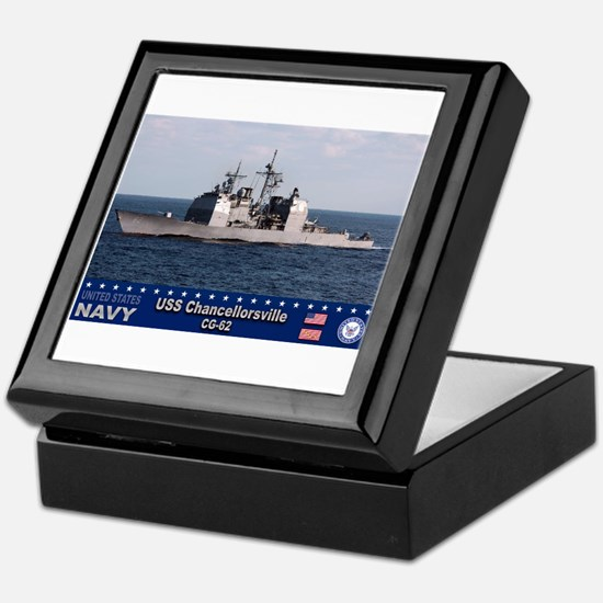 USS Chancellorsville CG-62 Keepsake Box