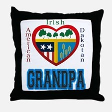 Irish Dakotan Grandpa Throw Pillow