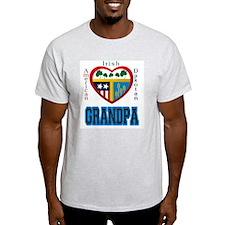 Irish Dakotan Grandpa Ash Grey T-Shirt