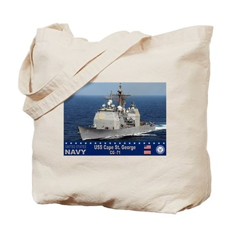 USS Cape St. George CG-71 Tote Bag