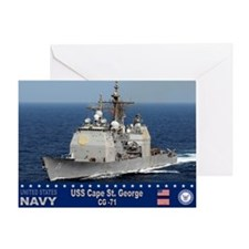 USS Cape St. George CG-71 Greeting Card