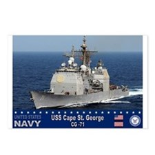 USS Cape St. George CG-71 Postcards (Package of 8)