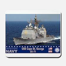 USS Cape St. George CG-71 Mousepad