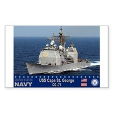 USS Cape St. George CG-71 Rectangle Decal
