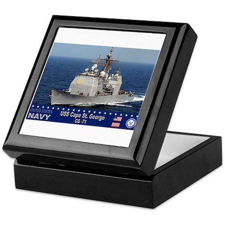 USS Cape St. George CG-71 Keepsake Box