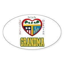 Irish Dakotan Grandma Oval Decal