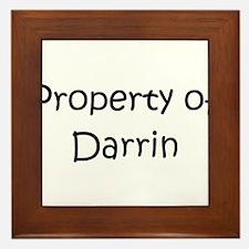Cool Darrin Framed Tile