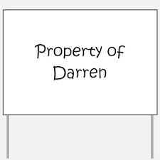 Unique Darren Yard Sign
