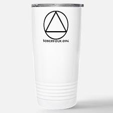Soberfolk Black Stainless Steel Travel Mug