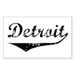 Detroit Rectangle Sticker
