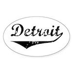 Detroit Oval Sticker