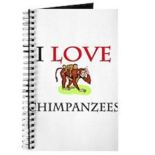 I Love Chimpanzees Journal