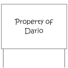 Unique Dario Yard Sign