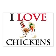 I Love Chickens Postcards (Package of 8)