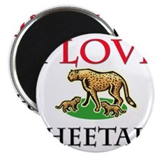 I Love Cheetahs Magnet