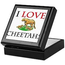 I Love Cheetahs Keepsake Box
