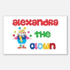 Alexa - The Clown Rectangle Decal