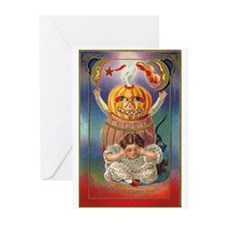 Scary Pumpkin Greeting Cards (Pk of 10)