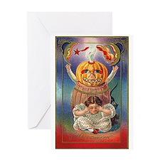 Scary Pumpkin Greeting Card