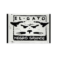 GATO NEGRO Rectangle Magnet (10 pack)