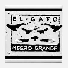 GATO NEGRO Tile Coaster