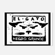 GATO NEGRO Postcards (Package of 8)