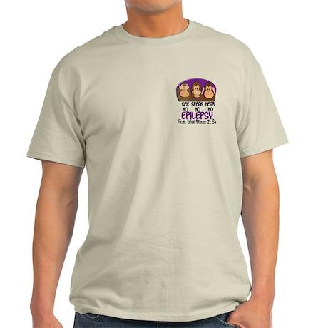 See Speak Hear No Epilepsy 1 Light T-Shirt