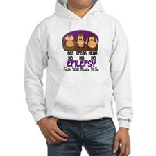 See Speak Hear No Epilepsy 1 Hoodie