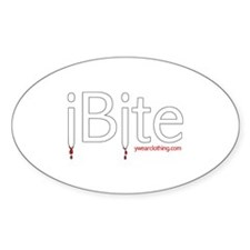 iBite Oval Decal