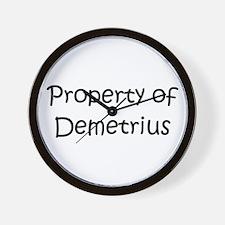 Cute Demetrius Wall Clock