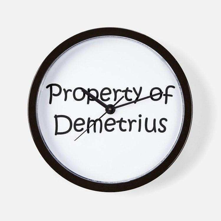 Cute Demetrius name Wall Clock