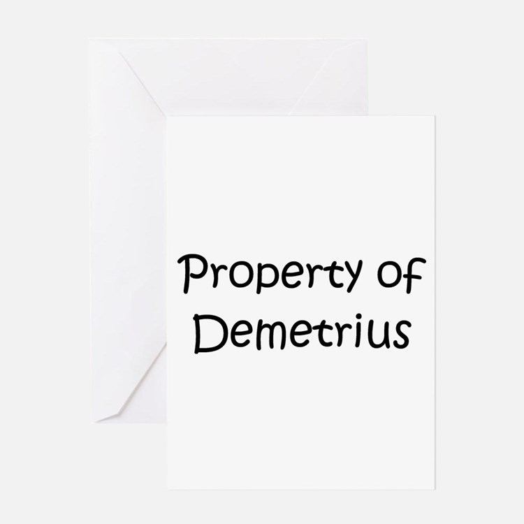 Cute Demetrius name Greeting Card
