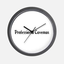 Professional Caveman Wall Clock