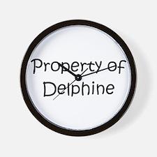 Unique Delphine Wall Clock