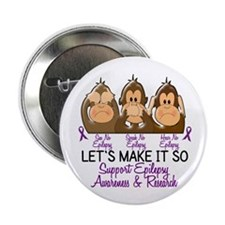 "See Speak Hear No Epilepsy 2 2.25"" Button"