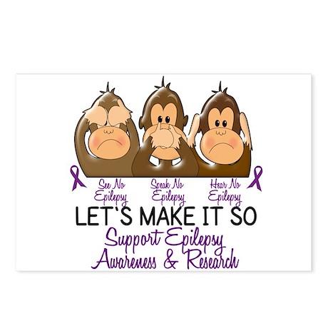 See Speak Hear No Epilepsy 2 Postcards (Package of