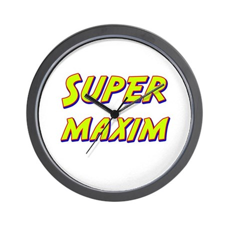 Super maxim Wall Clock