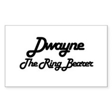 Dwayne - The Ring Bearer Rectangle Decal