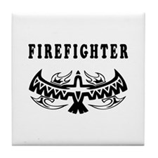Firefighter Tattoos Tile Coaster