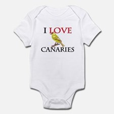 I Love Canaries Infant Bodysuit