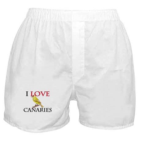 I Love Canaries Boxer Shorts
