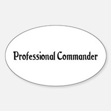 Professional Commander Oval Decal