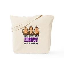 See Speak Hear No Epilepsy 3 Tote Bag