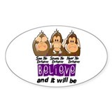 Epilepsy stickers Bumper Stickers