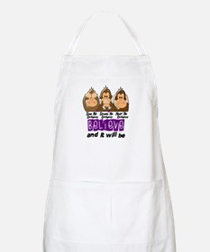 See Speak Hear No Epilepsy 3 BBQ Apron
